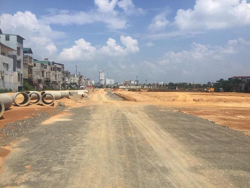 Công trường 2 dự án khu đô thị Hoàng Gia Việt Mỹ Tuyên Quang