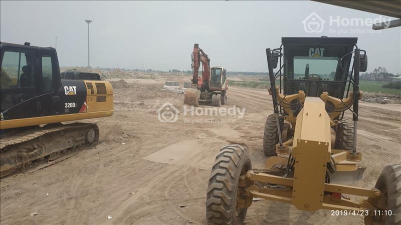 Công trường dự án đất nền làng nghề Mẫn Xá - Bắc Ninh