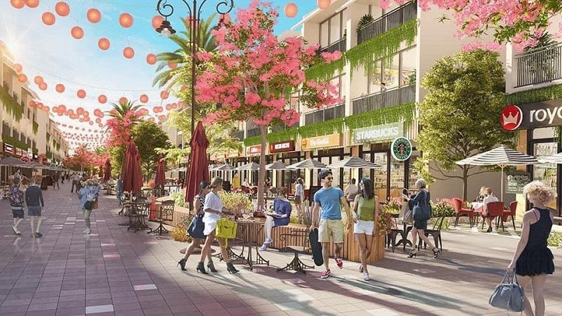 Phố đi bộ dự án Shophouse Wyndham Thanh Thủy - Phú Thọ