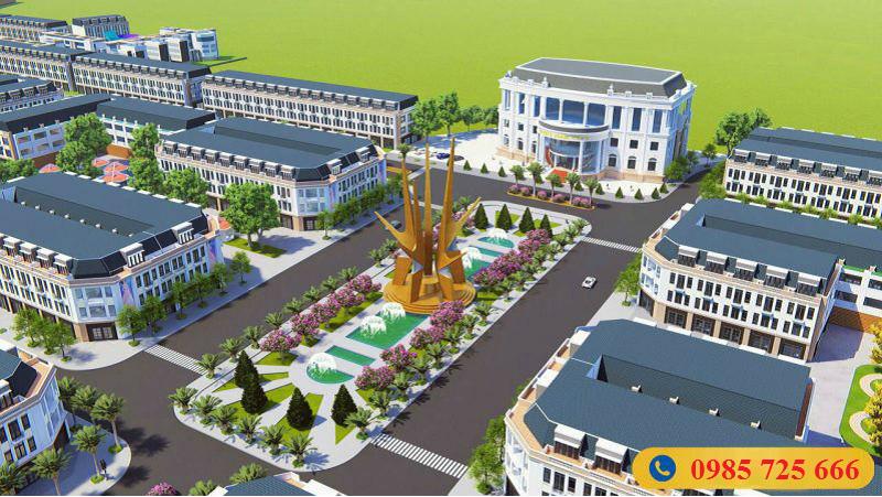Phối cảnh 2 dự án khu đô thị Hoàng Gia Việt Mỹ Tuyên Quang