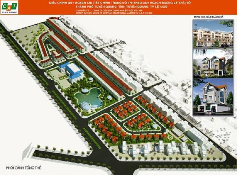 Quy hoạch dự án khu đô thị Hoàng Gia Việt Mỹ Tuyên Quang