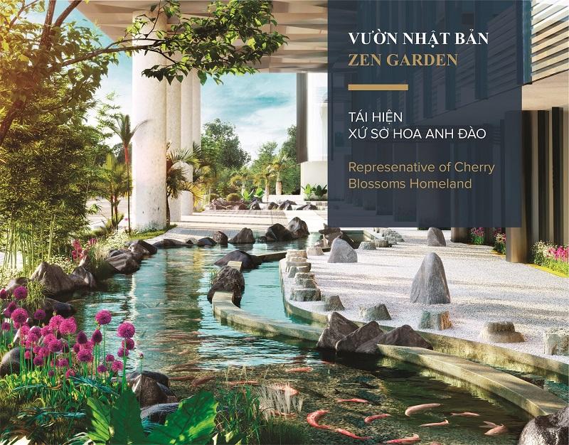 Vườn Nhật Bản ở dự án Wyndham Lynn Times Thanh Thủy
