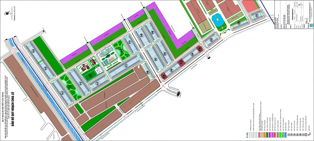 Mặt bằng phân lô dự án Hanaka Paris City Từ Sơn - Bắc Ninh