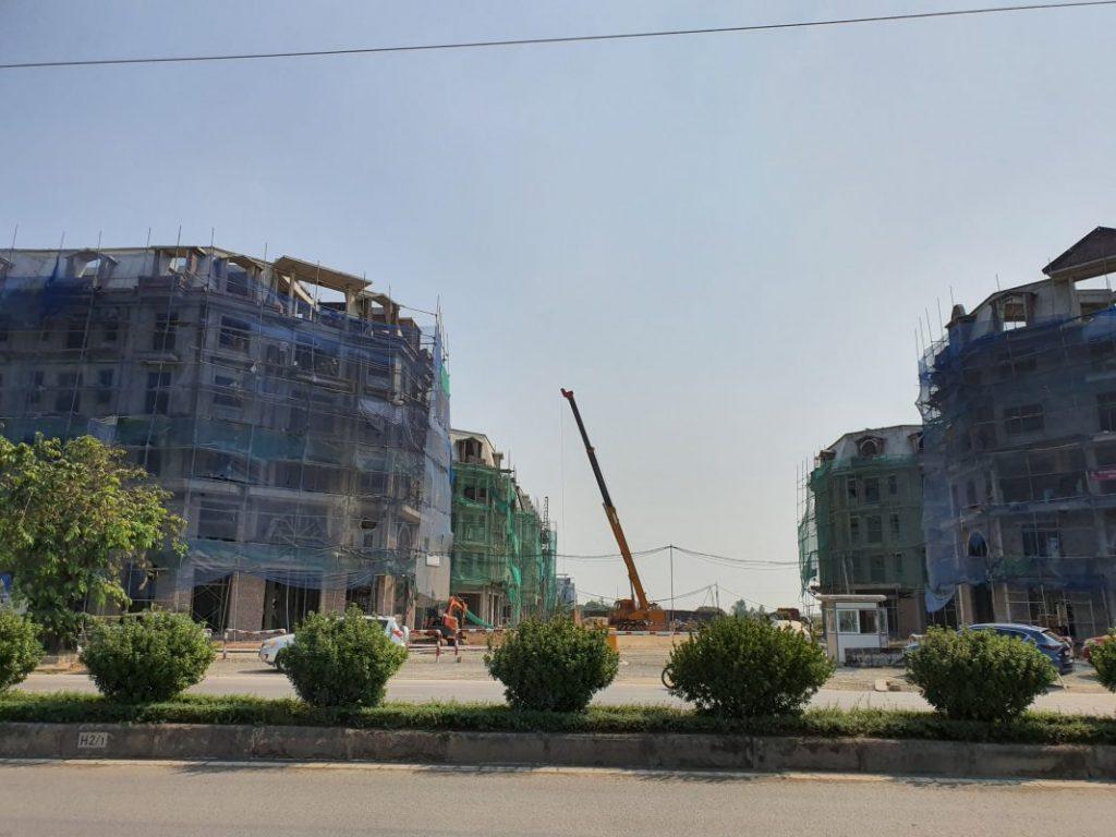 Ảnh thực tế 2 dự án liền kề shophouse Kiến Hưng Luxury Hà Đông