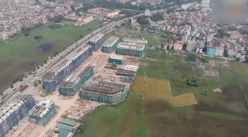 Flycam 2 dự án liền kề shophouse Kiến Hưng Luxury Hà Đông
