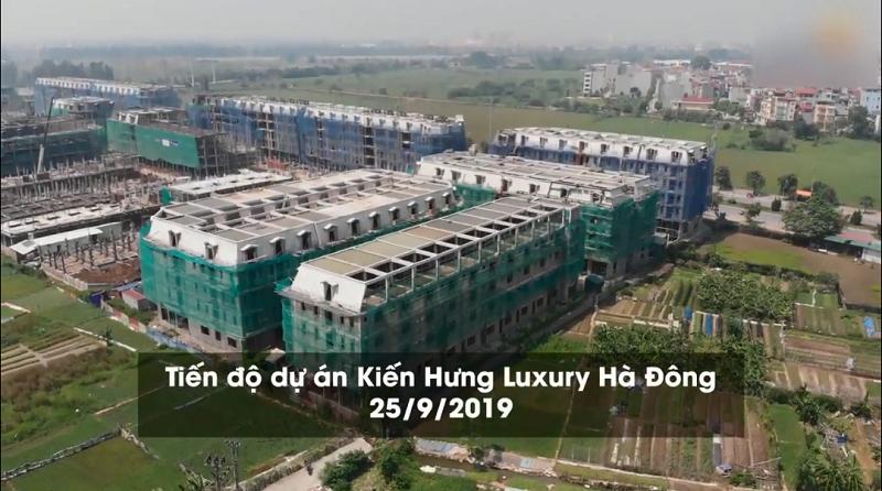 Flycam dự án liền kề shophouse Kiến Hưng Luxury Hà Đông