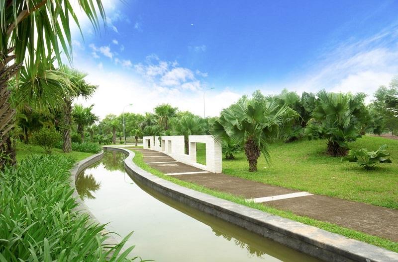 Hồ trung tâm dự án Hà Đô Charm Villas Hoài Đức