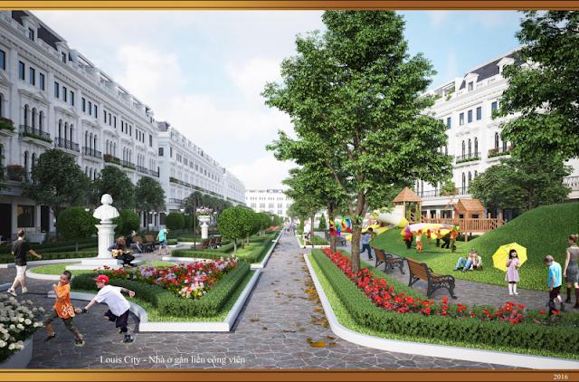 Liền kề nhà vườn dự án Louis City Tân Mai Hoàng Mai