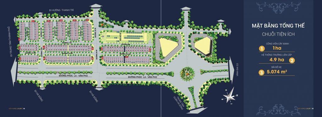 Mặt bằng phân lô dự án liền kề shophouse Kiến Hưng Luxury Hà Đông