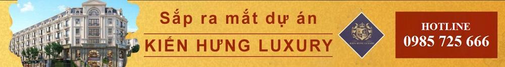 Mở bán dự án liền kề shophouse Kiến Hưng Luxury Hà Đông