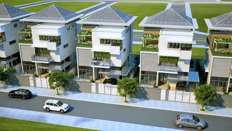 Phối cảnh biệt thự dự án Hà Đô Charm Villas Hoài Đức