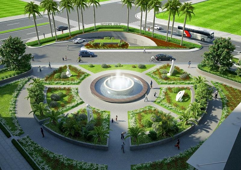 Quảng trường dự án Hà Đô Charm Villas Hoài Đức