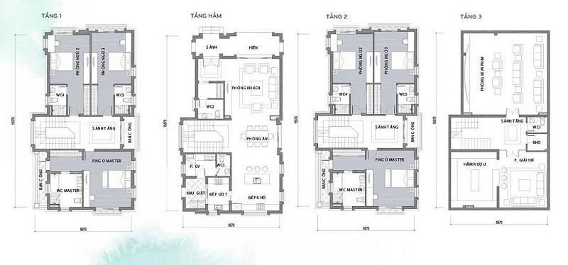 Thiết kế biệt thự dự án Hà Đô Charm Villas Hoài Đức