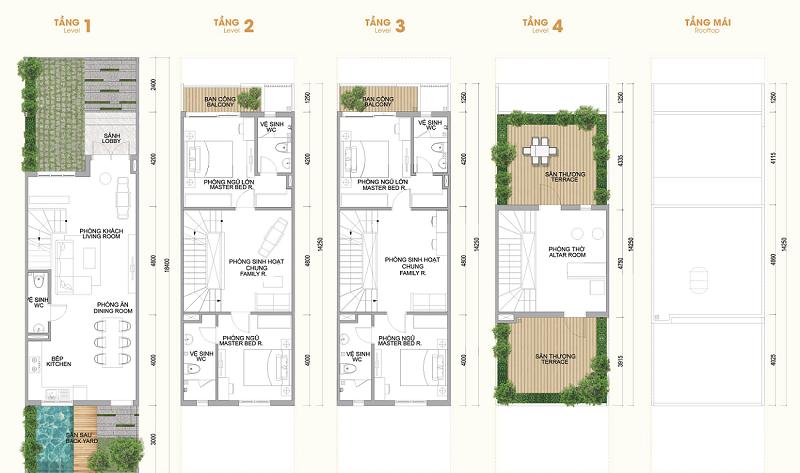 Thiết kế shophouse dự án Hà Đô Charm Villas Hoài Đức