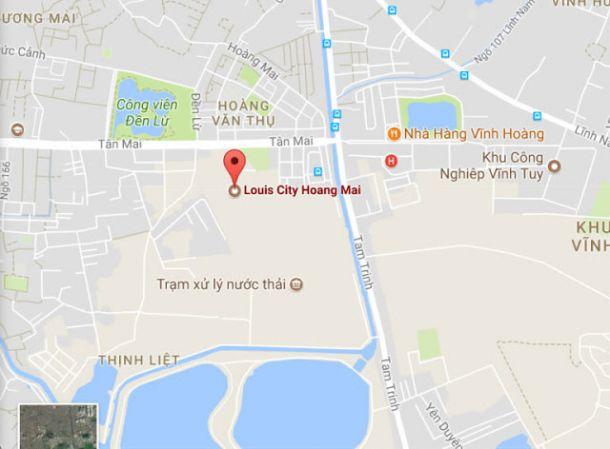 Vị trí dự án Louis City Tân Mai Hoàng Mai