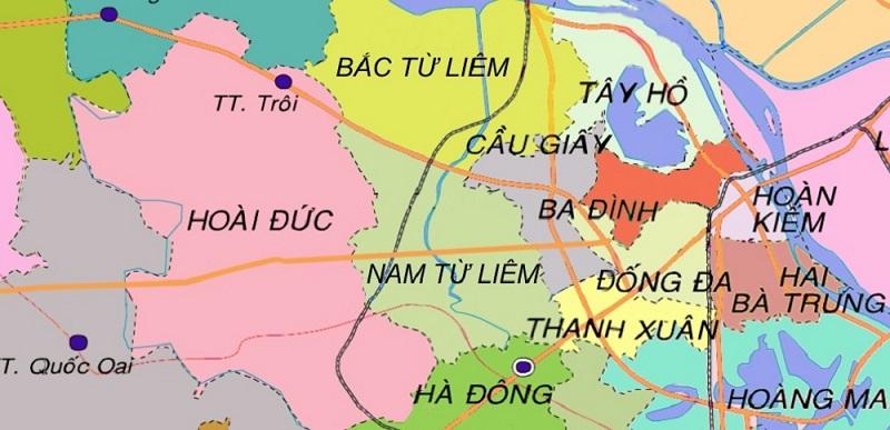 Vị trí huyện Hoài Đức - Dự án Hà Đô Charm Villas 1