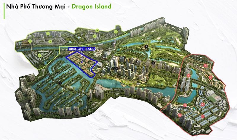 Giai đoạn 7 - Dragon Island phố thương mại Đảo Rồng khu đô thị Ecopark