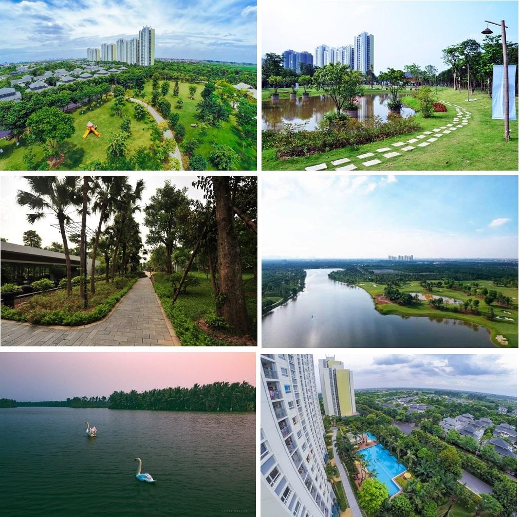Không gian xanh trong khu đô thị Ecopark