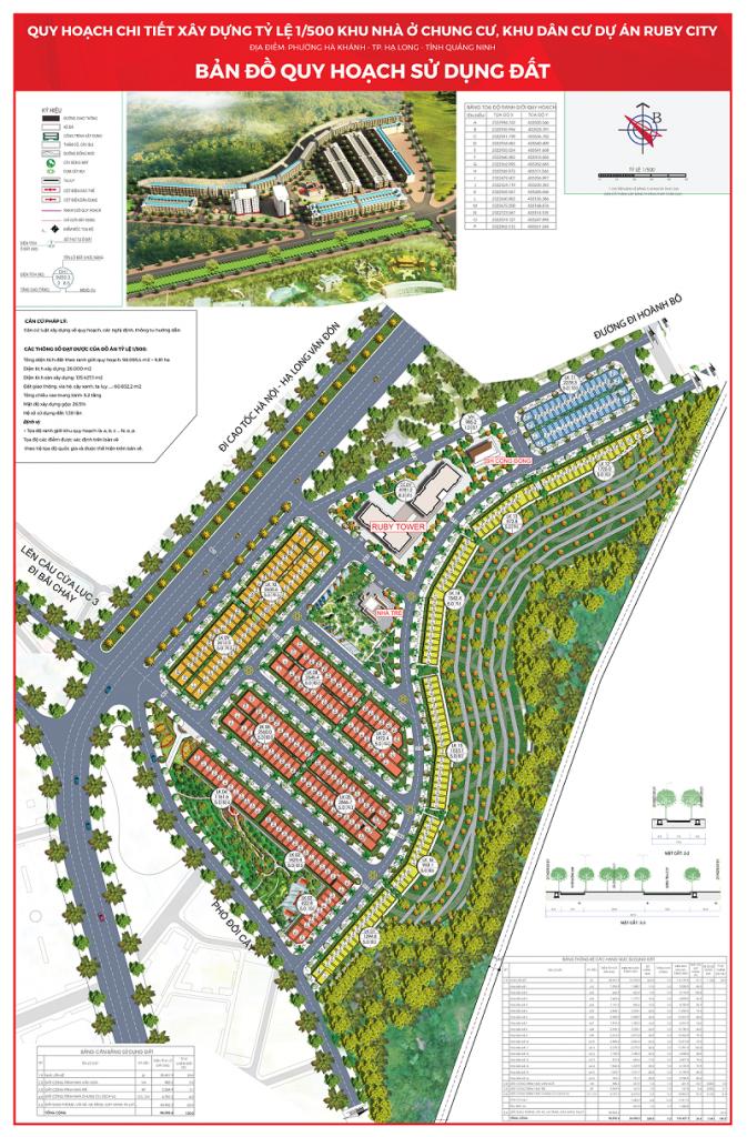 Mặt bằng phân lô dự án Ruby City Hạ Long - Quảng Ninh