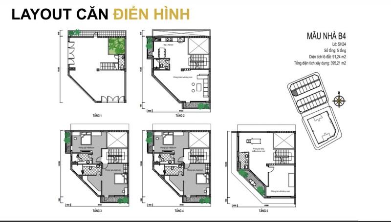 Mẫu thiết kế B4 shophouse dự án T&T DC Complex 120 Định Công