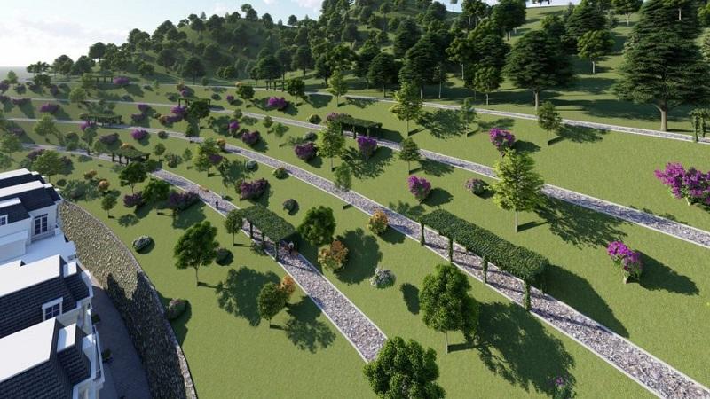 Phối cảnh 2 vườn treo Babylons dự án Ruby City Hạ Long - Quảng Ninh