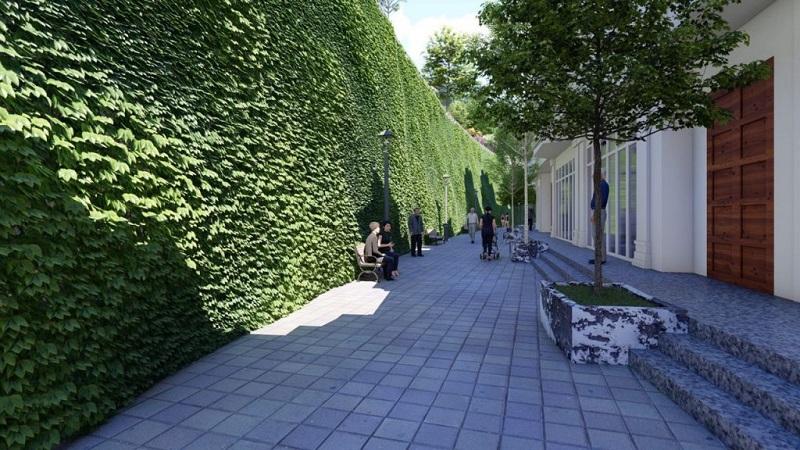 Phối cảnh 3 vườn treo Babylons dự án Ruby City Hạ Long - Quảng Ninh