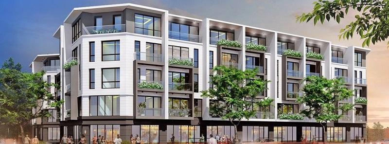 Phối cảnh shophouse dự án T&T DC Complex 120 Định Công