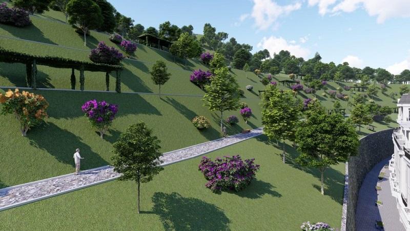 Phối cảnh vườn treo Babylons dự án Ruby City Hạ Long - Quảng Ninh
