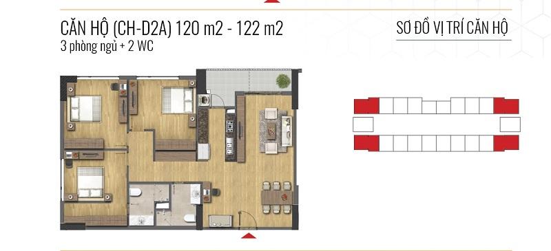 Thiết kế căn hộ loại C Epic Home Bộ Công An - 43 Phạm Văn Đồng