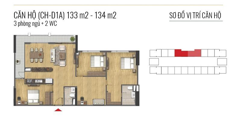 Thiết kế căn hộ loại D Epic Home Bộ Công An - 43 Phạm Văn Đồng