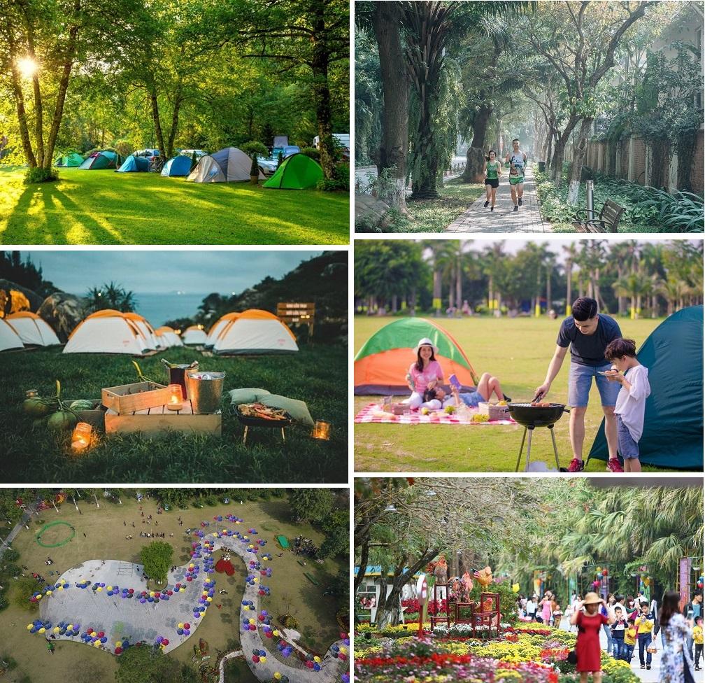 Hệ thống tiện ích lễ hội trong khu đô thị Ecopark