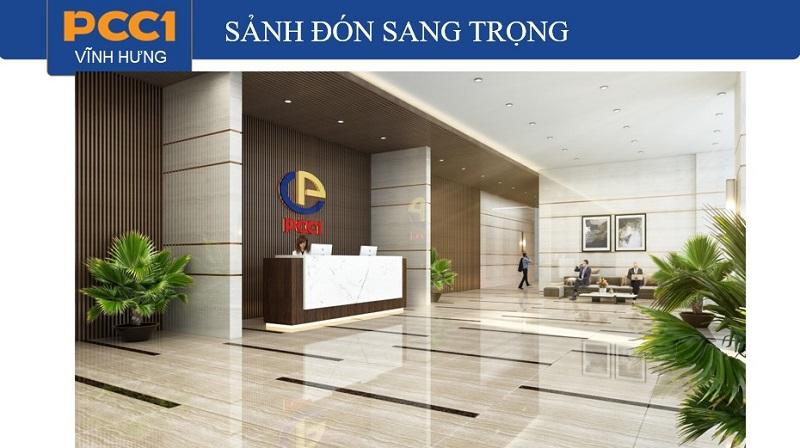 Tiện ích sảnh lễ tân dự án chung cư PCC1 Vĩnh Hưng - Hoàng Mai