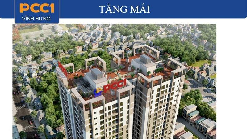 Tiện ích tầng mái dự án chung cư PCC1 Vĩnh Hưng - Hoàng Mai