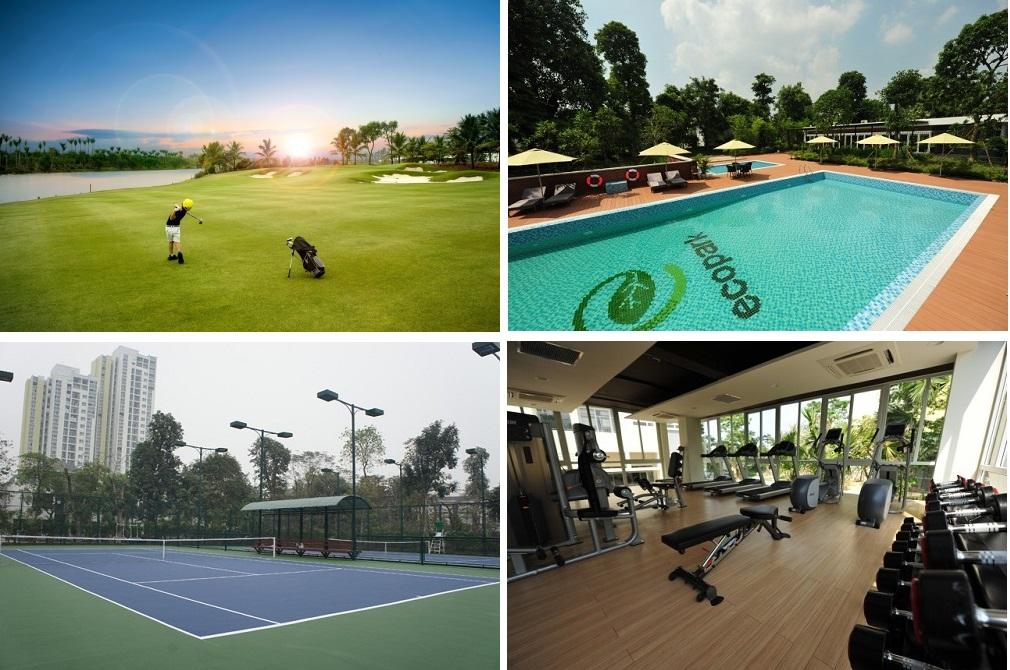 Hệ thống tiện ích thể thao trong khu đô thị Ecopark