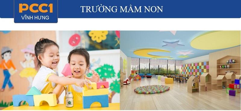 Tiện ích trường mầm non dự án chung cư PCC1 Vĩnh Hưng - Hoàng Mai