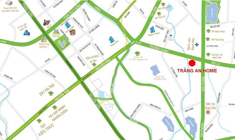 Vị trí chung cư Tràng An Home - 149 Trường Chinh
