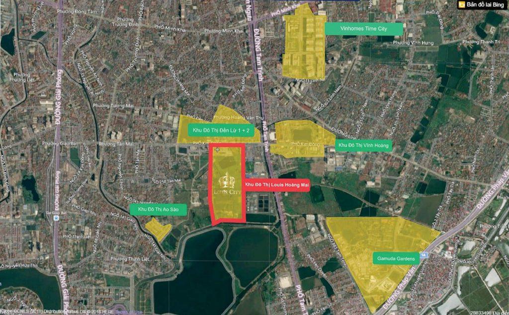 Vị trí dự án Louis City Tân Mai - Hoàng Mai 2020