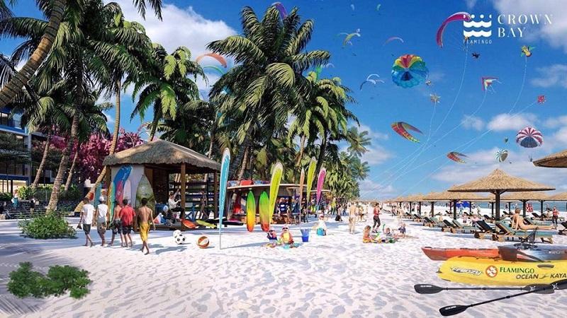 Bãi biển 2 dự án Flamingo Crown Bay Hải Tiến Thanh Hóa