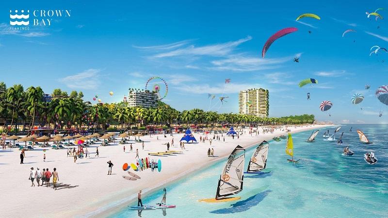Bãi biển dự án Flamingo Crown Bay Hải Tiến Thanh Hóa
