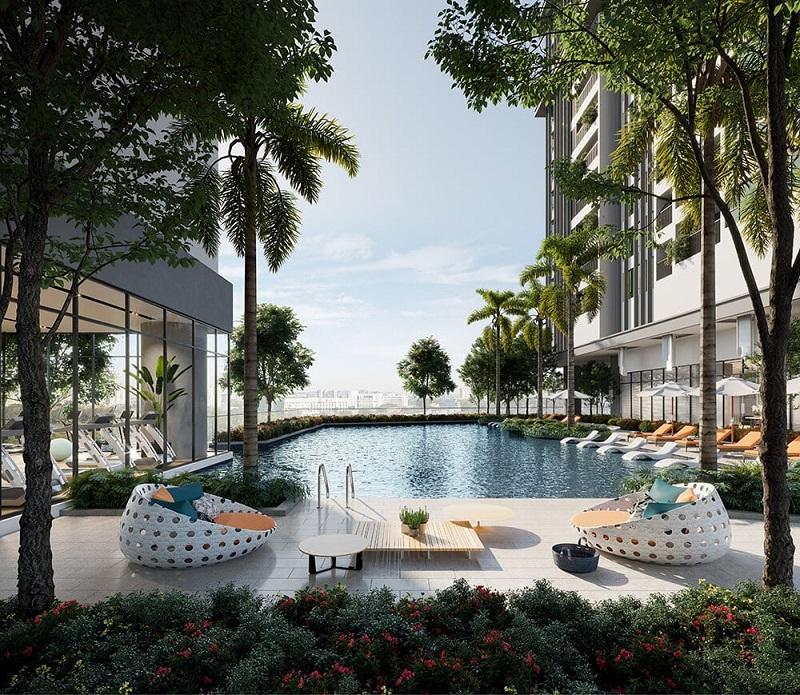 Bể bơi chung cư Park Kiara dự án Park City Hà Nội