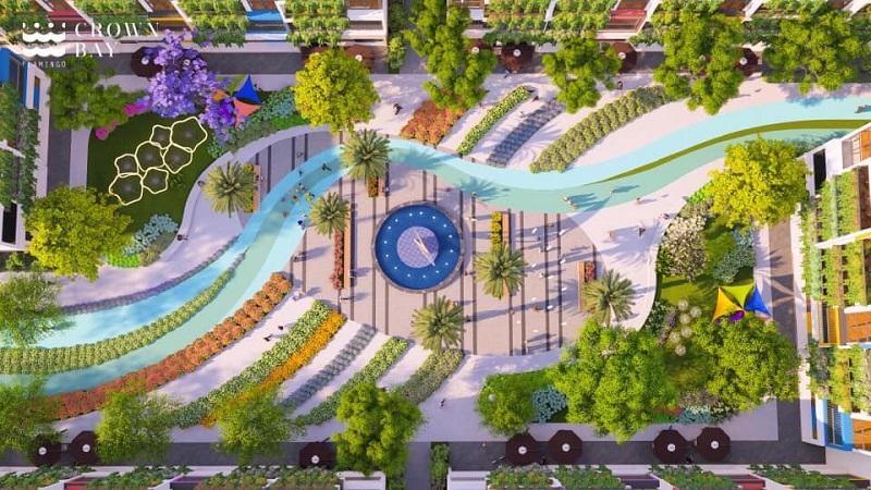 Công viên trung tâm dự án Flamingo Crown Bay Hải Tiến Thanh Hóa
