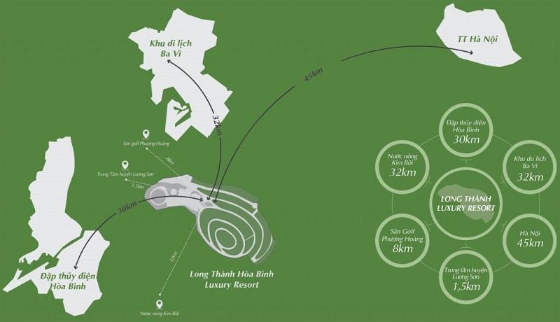 Kết nối dự án Long Thành Hòa Bình Luxury Resort