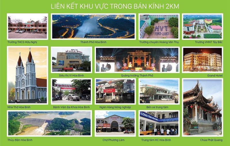 Kết nối tiện ích dự án Hòa Bình New City (Sudico Bắc Trần Hưng Đạo)