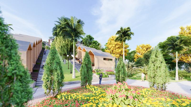Không gian xanh 2 dự án Long Thành Hòa Bình Luxury Resort