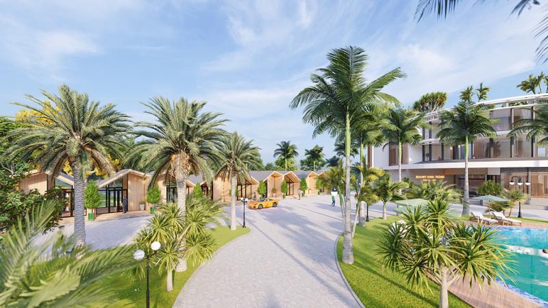 Không gian xanh dự án Long Thành Hòa Bình Luxury Resort