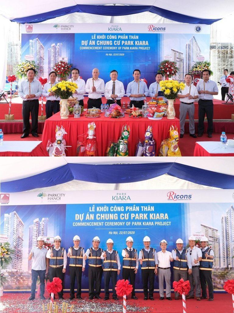 Lễ khởi công phần thân chung cư Park City Hà Đông