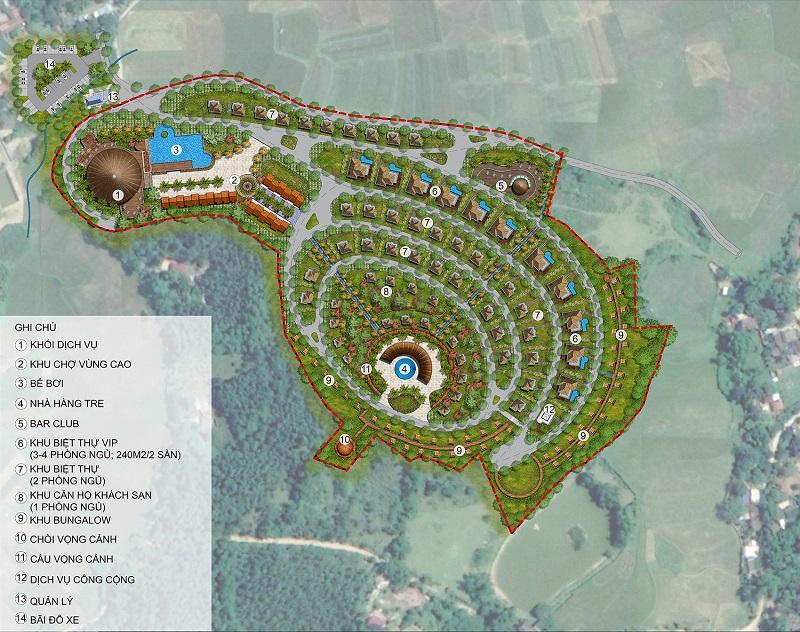 Mặt bằng dự án Long Thành Hòa Bình Luxury Resort