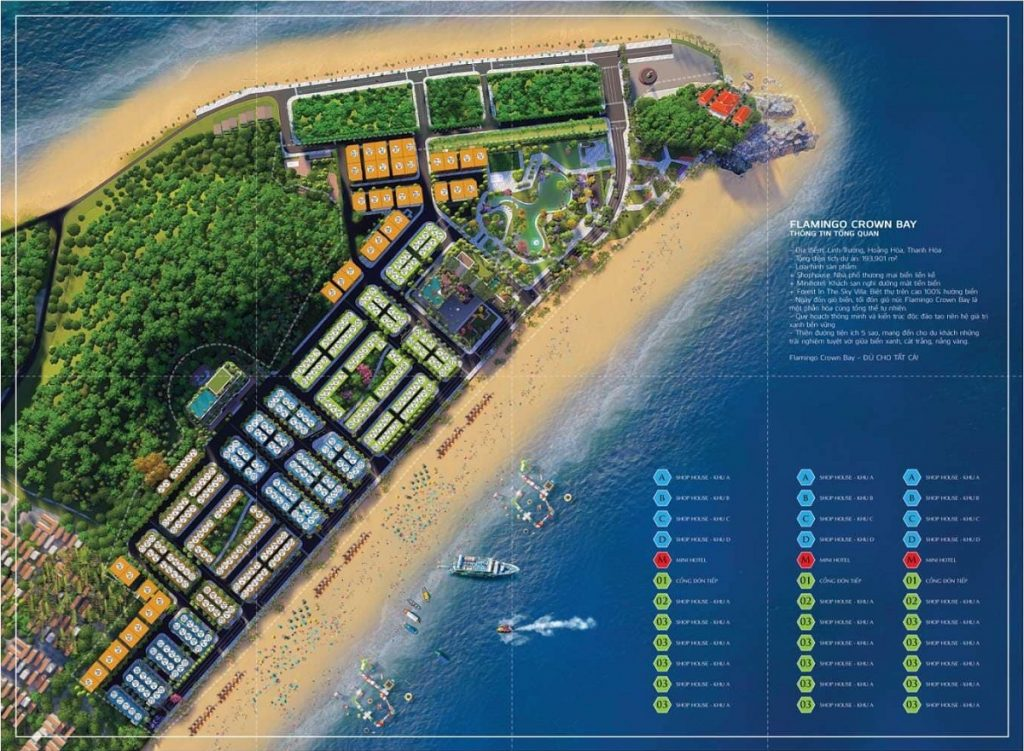 Mặt bằng phân lô dự án Flamingo Crown Bay Hải Tiến - Thanh Hóa
