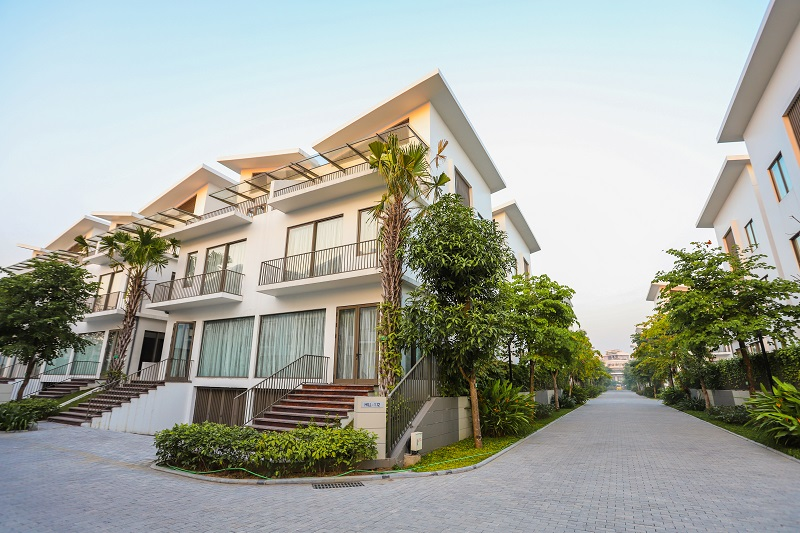 Nội khu 2 dự án biệt thự Khai Sơn Hill Long Biên