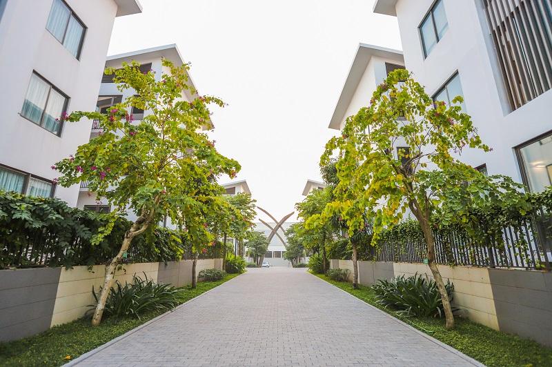 Nội khu dự án biệt thự Khai Sơn Hill Long Biên